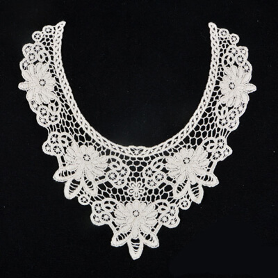 white flower cotton lace collar