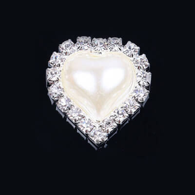pearl diamond button