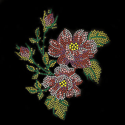 flower rhinestone transfes