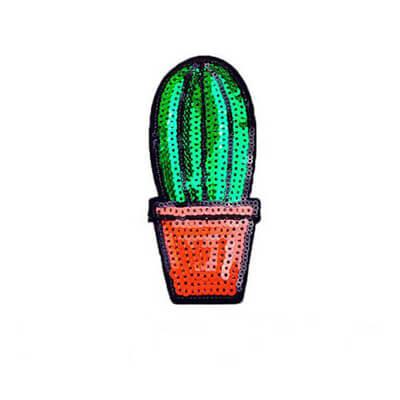 cactus sequin patch
