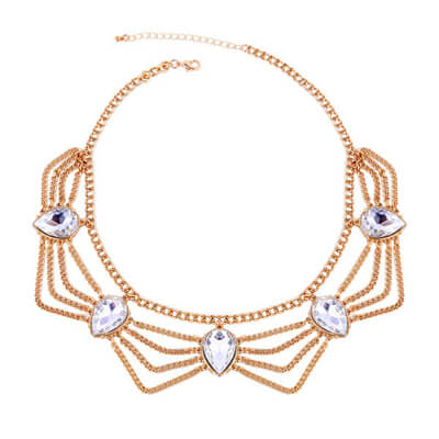 fashion gold plated chain necklace